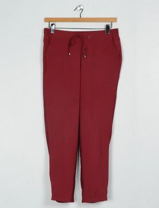 Pretty pyjama in maroon cotton