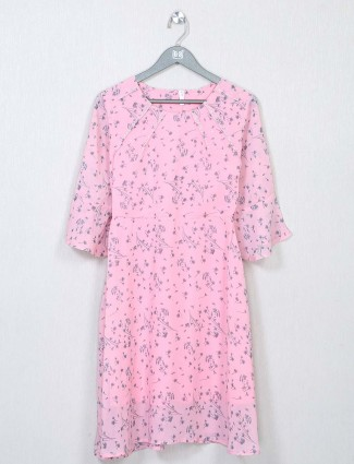 Printed pink casual top for women