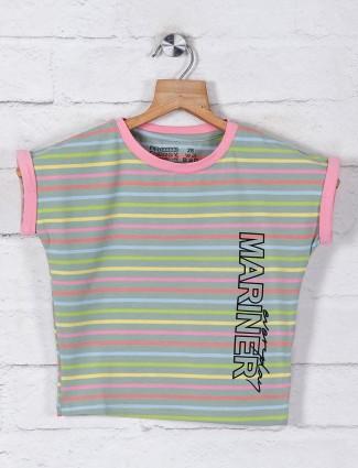 Pro Energy green stripe cotton top