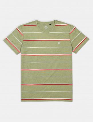 Psoulz polo stripe olive t-shirt