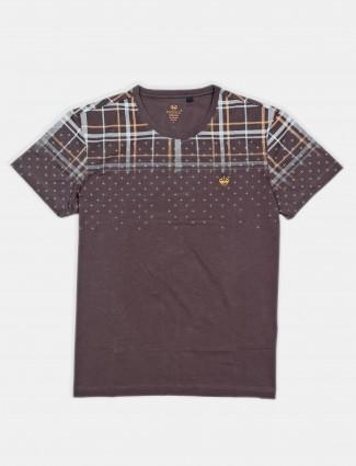 Psoulz printed grey printed t-shirt