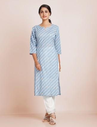 Punjabi style latest grey festive cotton punjabi style pant suit