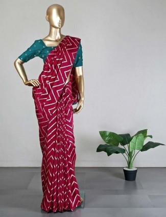 Purple dola silk saree for women