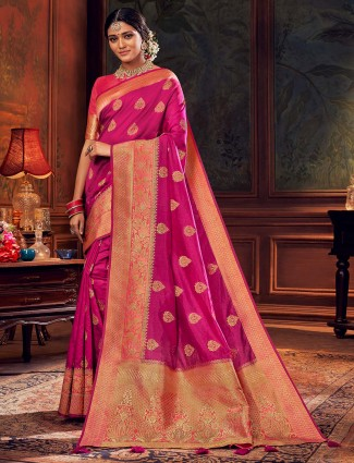 Purple silk wedding session saree