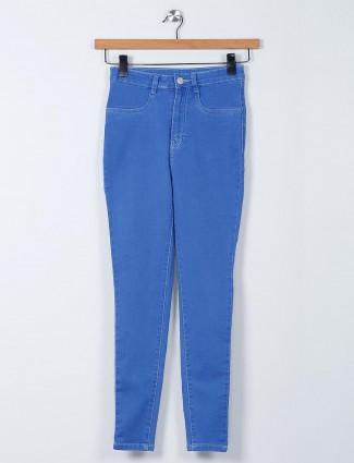 Recap blue skinny fit casual denim jeans