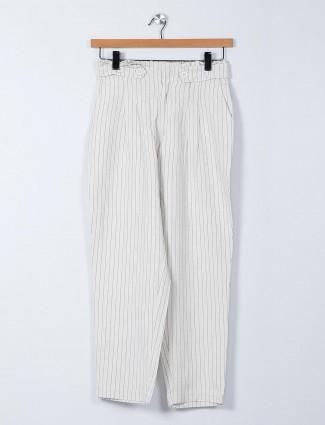 Recap striped linen palazzo pants