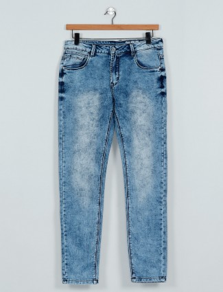 Rex Straut presented washed blue jeans
