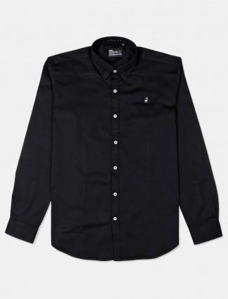 River Blue black cotton shirt