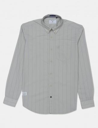 River Blue cotton stripe grey mens shirt