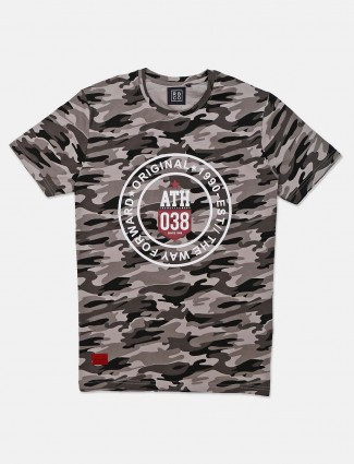 River Blue grey camouflage printed t-shirt