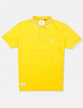 River Blue lemon yellow solid t-shirt