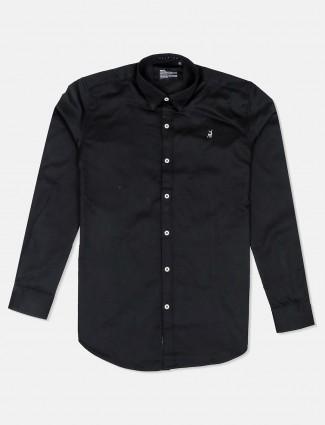 River Blue presented solid black shirt