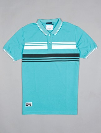 River Blue printed mint green cotton t-shirt