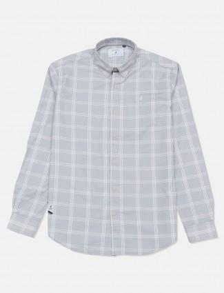 River Blue royal grey checks full sleeves shirt