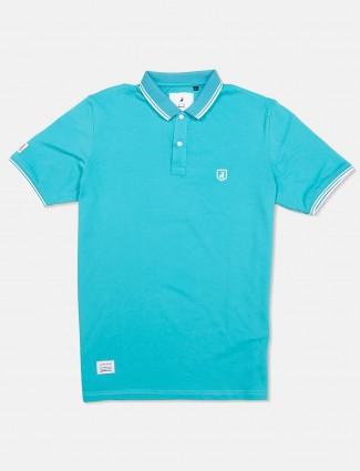 River Blue solid aqua cotton t-shirt