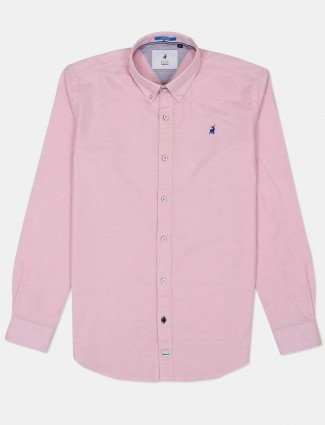 River Blue solid pink buttoned down collar shirt