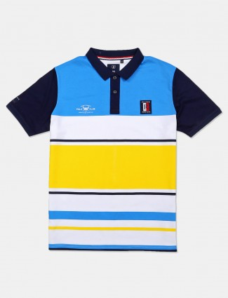 River Blue stripe blue and white cotton t-shirt