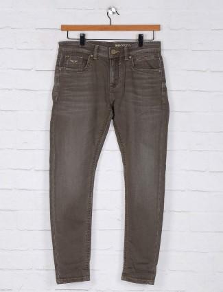Rookies khaki slim fit denim jeans