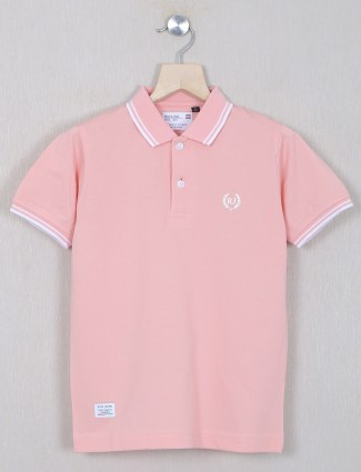 Ruff baby pink shade solid style t-shirt