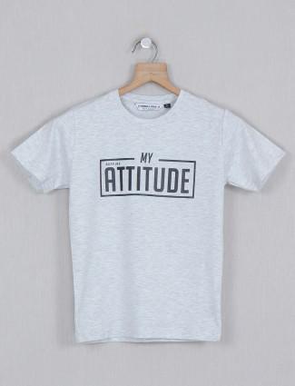 Ruff cotton light grey casual t-shirt