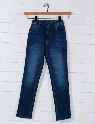 Ruff navy washed denim boys jeans