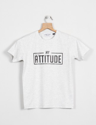 Ruff presented printed white t-shirt for boys