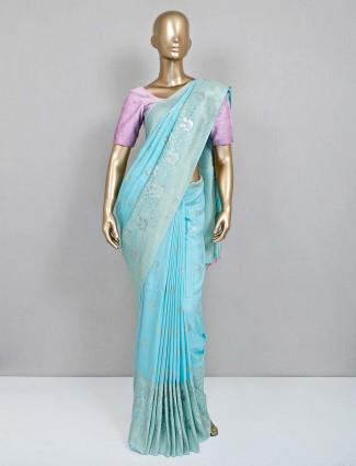 Sea green saree for wedding session