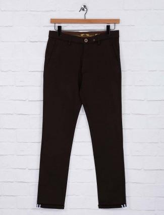 Sixth Element brown hued slim fit trouser