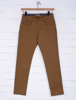 Six Element presented brown solid trouser
