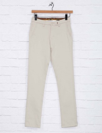 Sixth Element solid cream hued trouser