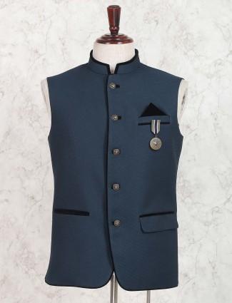 Solid rama green color waistcoat