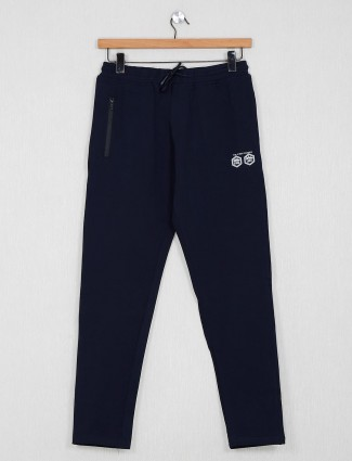 Stride solid navy color track pant