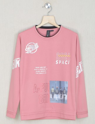 Sturd casaul style pink t-shirt for boys