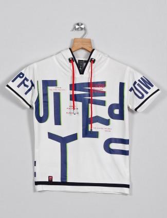 Sturd off white cotton printed t-shirt