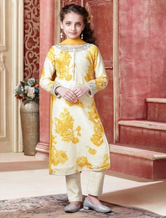Sunshine yellow salwar suit for wedding sessions