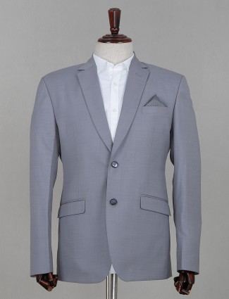 Terry rayon fabric sky blue coat suit for parties
