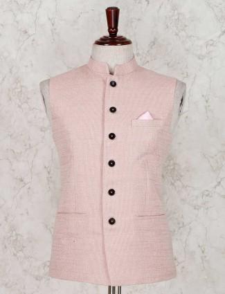 Terry rayon peach solid waistcoat