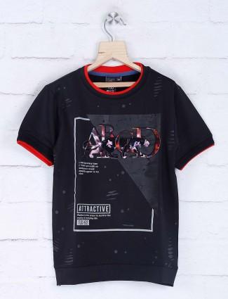 Timbuktu black casual wear 3D print t-shirt