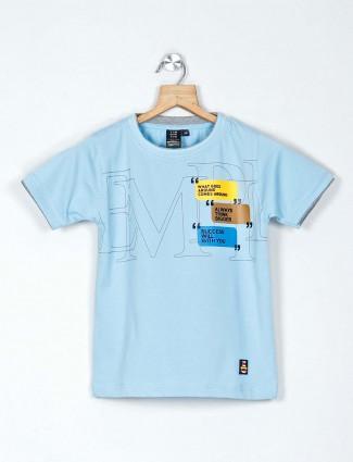 Timbuktuu printed blue casual boys t-shirt