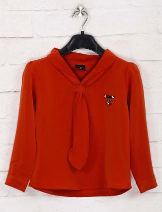 Tiny Girl rust orange cotton top