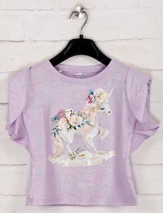 Tiny Girl violet printed cotton top
