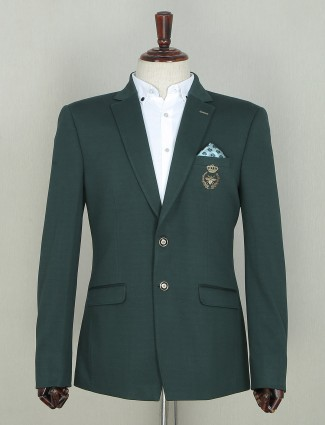 Two buttoned style blazer in green tint
