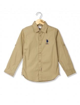 U S Polo beige shirt