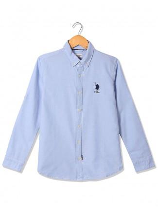 U S Polo casual light blue shirt