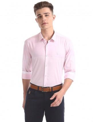 U S Polo pink hue solid shirt