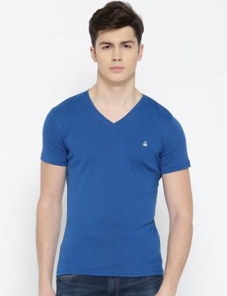 UCB blue color plain cotton t-shirt