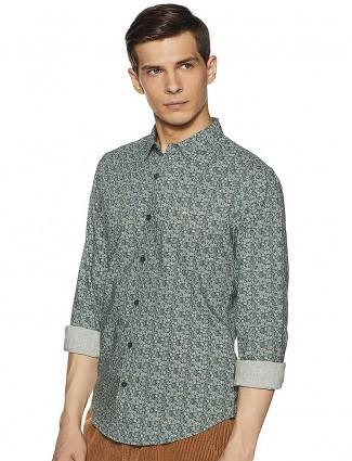 UCB cotton fabric green hue mens shirt