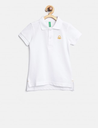 UCB plain white t-shirt