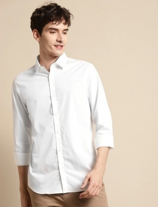 UCB presented white casual shirt in cotton