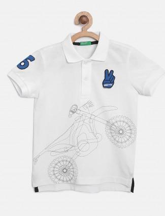UCB presented white printed t-shirt